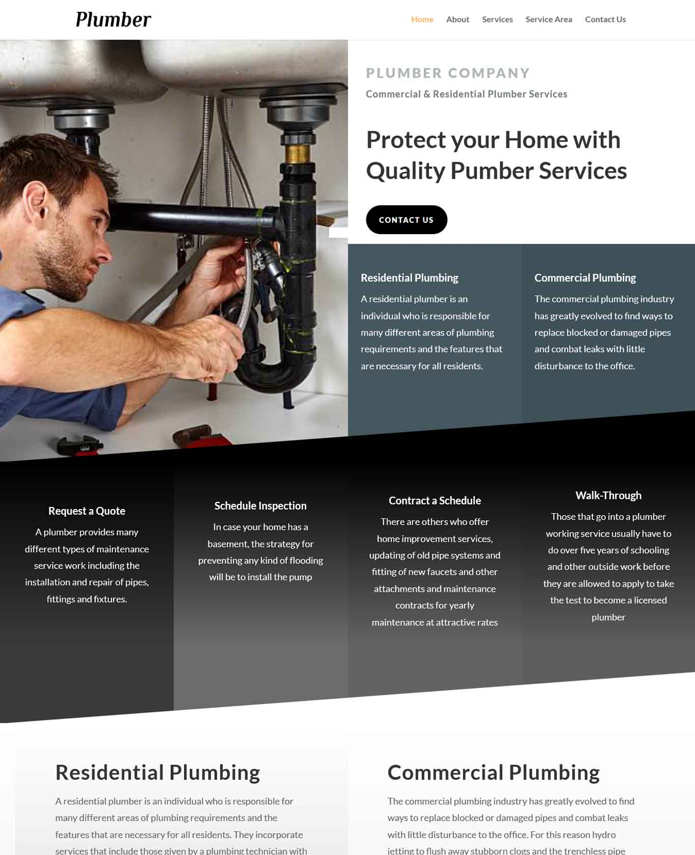 Plumber Website Sample Design 3